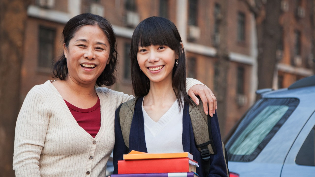 mother daughter smiling; the image used for prepared child's education